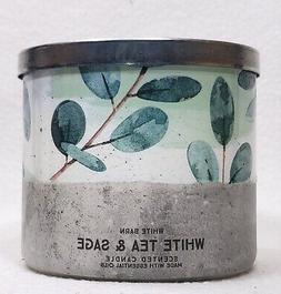 1 Bath & Body Works WHITE TEA & SAGE Large 3-Wick Wax Candle