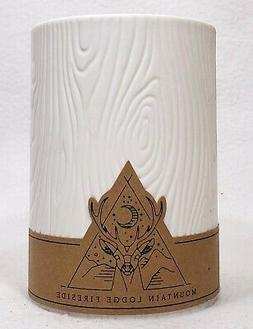 1 DW Home MOUNTAIN LODGE FIRESIDE Wooden Wick Texture Candle