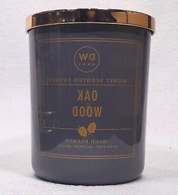 1 DW Home OAK WOOD Scented Wax 2-wick Large Candle 15 oz ea