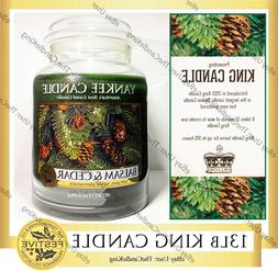 """Yankee Candle - 13lb """"King Candle"""" - 4 Wick Balsam & Cedar S"""