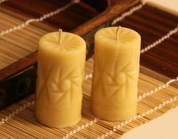 Handmade 100% Pure Beeswax Candle Crystal Shape 100% Cotton