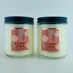 2 Bath & Body Works Vanilla Birch Scented Soy Candles 7 oz M