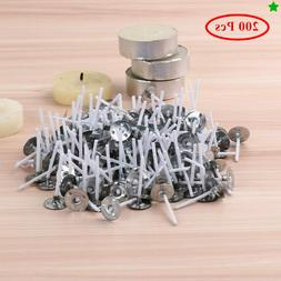 200x Sliver Aluminum Tea Light Cups Jar Box Pure Cotton Wax