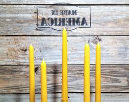 """24 -10"""" 100% PURE BEESWAX TAPER CANDLES NO ADDITIVES"""