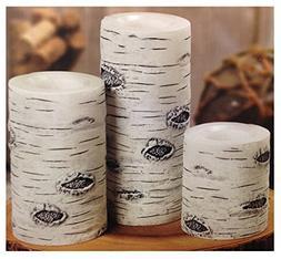 3 Flameless Led Wax Candles White Birch Enjoy Safe Candlelig