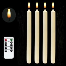 Flameless Window Taper Candles Remote Timer Battery Operated
