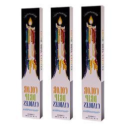 Color Drip Candles, 3-Pack