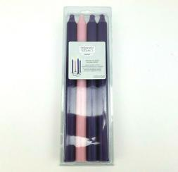 """Yankee Candle Advent Taper Candles 12"""" Set of 4 Unscented Dr"""