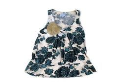 Anthropologie Top Sleeveless Deletta Floral Applique Candle