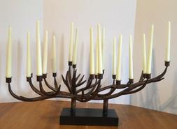 Antler Candelabra Candle Holder with Taper Candles Rustic Ca
