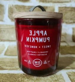 DW HOME CANDLE APPLE PUMPKIN RICH SCENT 1 WICK RED SOY WAX 9