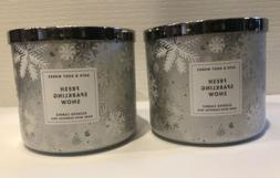 Bath & Body Works 3-wick Scented Candle Lot Set of 2 FRESH S