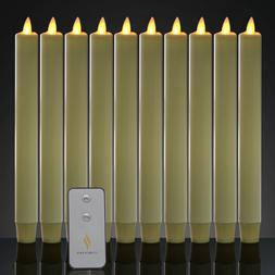 Luminara Battery Operated Taper LED Candles Flameless Flicke