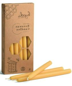 """Hyoola 9"""" Beeswax Taper Candles 12 Pack – Handmade, All Na"""