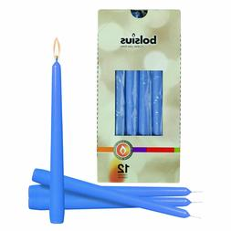 Blue 10 Inch Unscented Taper Household Decor Candles for Wed
