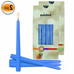 """Blue 10"""" Tapered Unscented Holiday Candles Wedding Dinner Ho"""