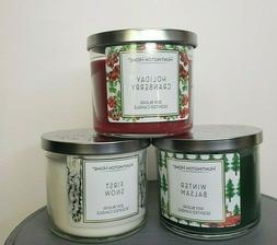 Brand New Scented  3 wick Huntington Home Candles Soy Blend