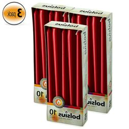 Bulk Taper Red Candles 7.5 Hours Long Burning Unscented Tabl