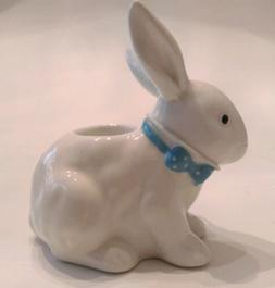 Yankee Candle ceramic White Bunny rabbit Easter tapered cand