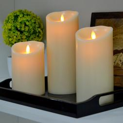Luminara Dancing Wick Flameless Led Candle Real Wax Scented