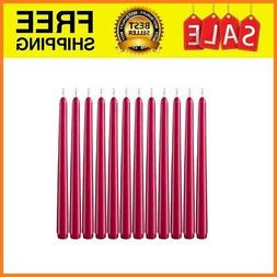"""Dripless Taper Candles 10"""", Unscented Dinner Candle Set of 1"""