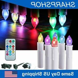 Electric Taper Candles Flameless LED Lights for Windows Pill