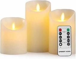 Flameless Candles Battery Operated Pillar Real Wax Flickerin