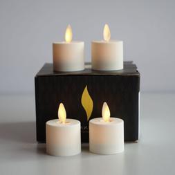 Luminara Flameless Ivory Tea Light Candles Unscented Moving