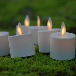 Luminara Flameless Moving Wick Ivory Tealight Candles wiht R