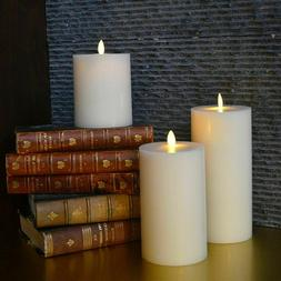 Luminara Flameless Moving Wick Led Candles Flat Top Scented