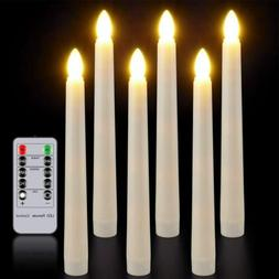 Flameless Taper Window Candles with Remote Timer Battery Ope
