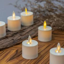 Luminara Flameless Tea lights Candles Ivory With Moving Wick