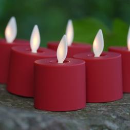 Luminara Flameless Tealight Candles Moving Wick Set of 6 for