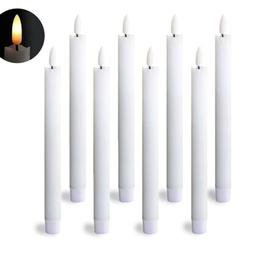 flameless taper candles timer battery operated flickering
