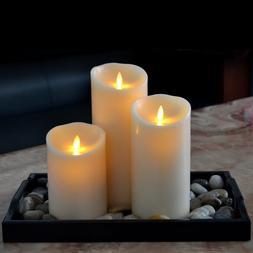 Luminara Flickering Flameless LED Pillar Candles Moving Wick