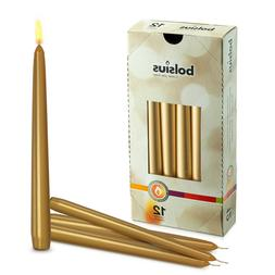 """Gold 10"""" Unscented Taper Holiday Candles for Wedding Dinner"""