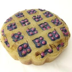 Hand Made BLUEBERRY LATTICE PIE CANDLE, LARGE, 8 inch, 3 wic