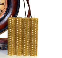 """Handmade Hand rolled 100% Pure Beeswax Honeycomb Candles 8"""""""