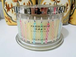 Homeworx by Harry Slatkin BIRTHDAY CAKE Candle 18 oz. 4 Wick