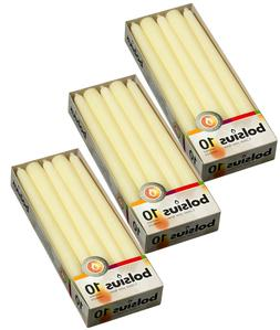 Ivory Scented Taper Candles 7.5 Hour Burning Smokeless Table