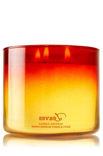3 wick candle leaves