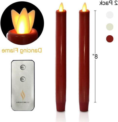 8 flameless led taper candles with remote