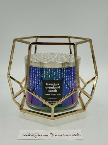 bath and body works gold hexagon marble