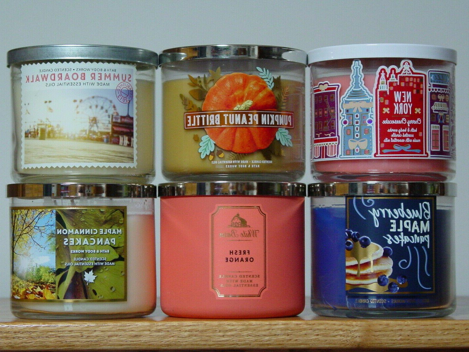 bath and body works three wick scented