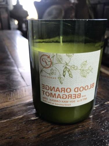 blood orange and bergamot candle 8 ounce