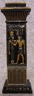 """Candle Holder Egyptian Column NEW for 3/4"""" diameter dinner t"""