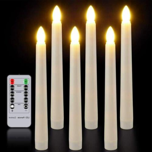flameless taper window candles with remote timer
