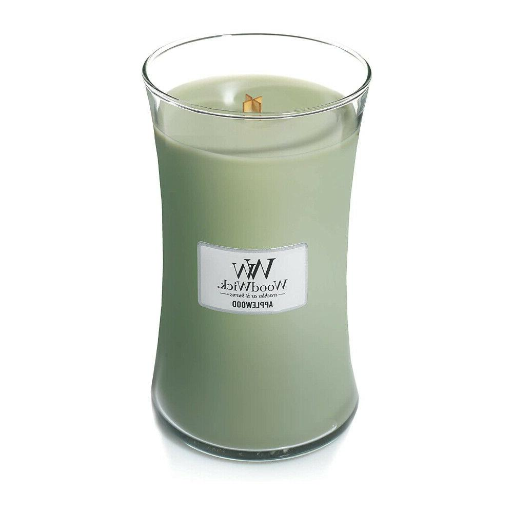 hourglass scented candles with crackling wood wick
