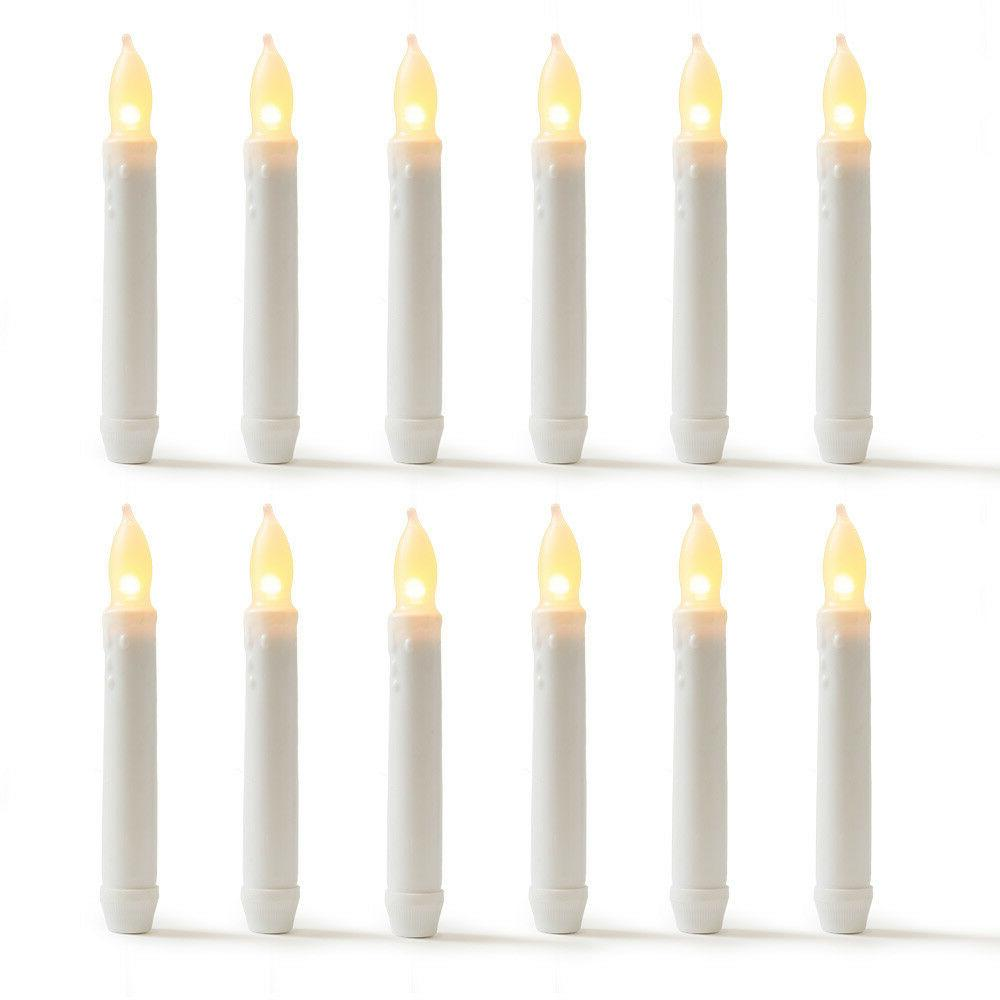 led candles flameless taper warm white body