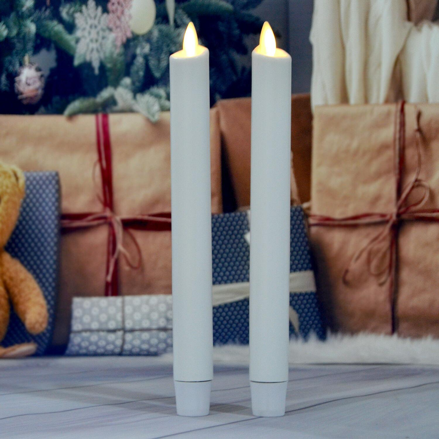 moving flicker flameless led taper candles